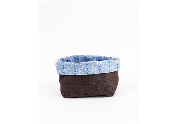 Brotkorb Textil - Edelweiss blau