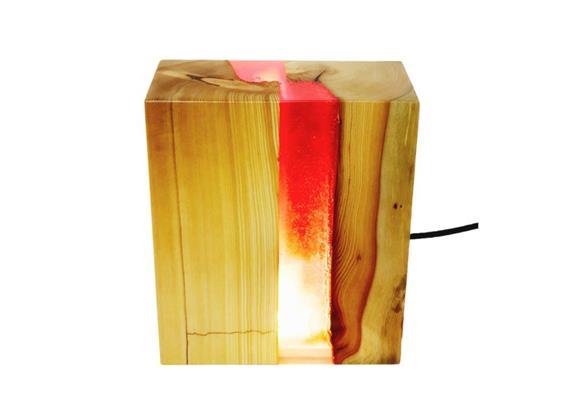 Epoxidharz Leuchte gespalten