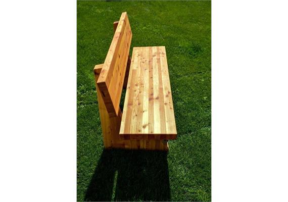 Garten-Bank mit Lehne 245 cm