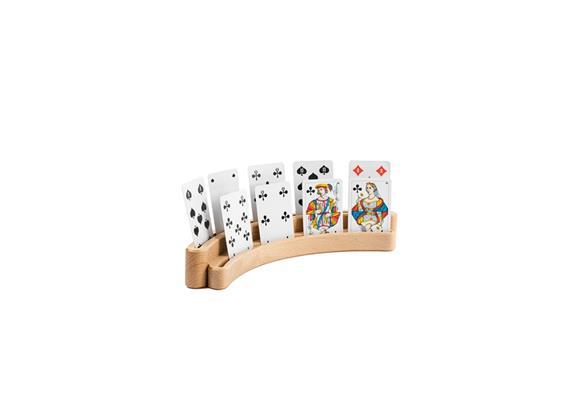 Jasskartenhalter mit 2 Schienen