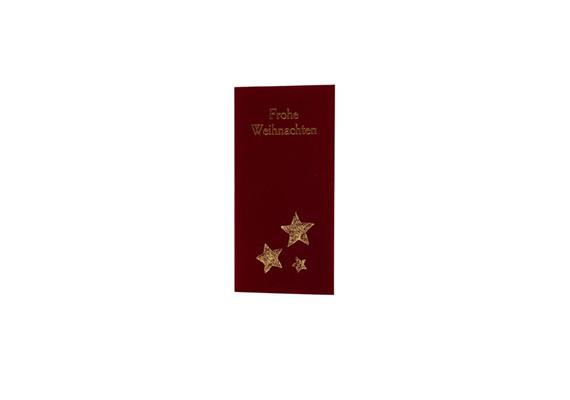 Karten: Weihnachten - Weihnachten: Stern beflockt rot