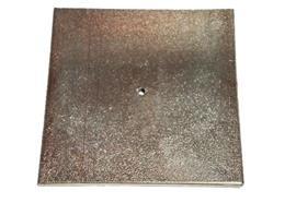 Metallplatte 12 x 12 cm