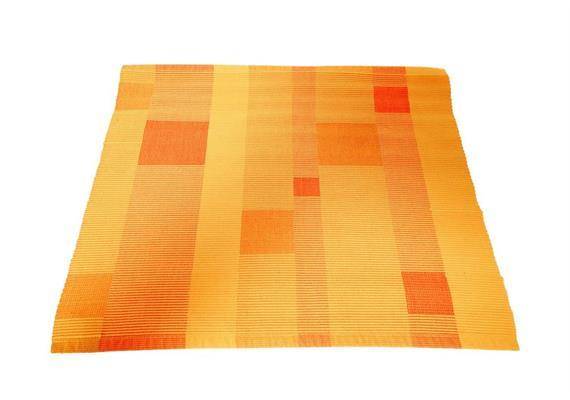 Tischset Rips mit Partie orange